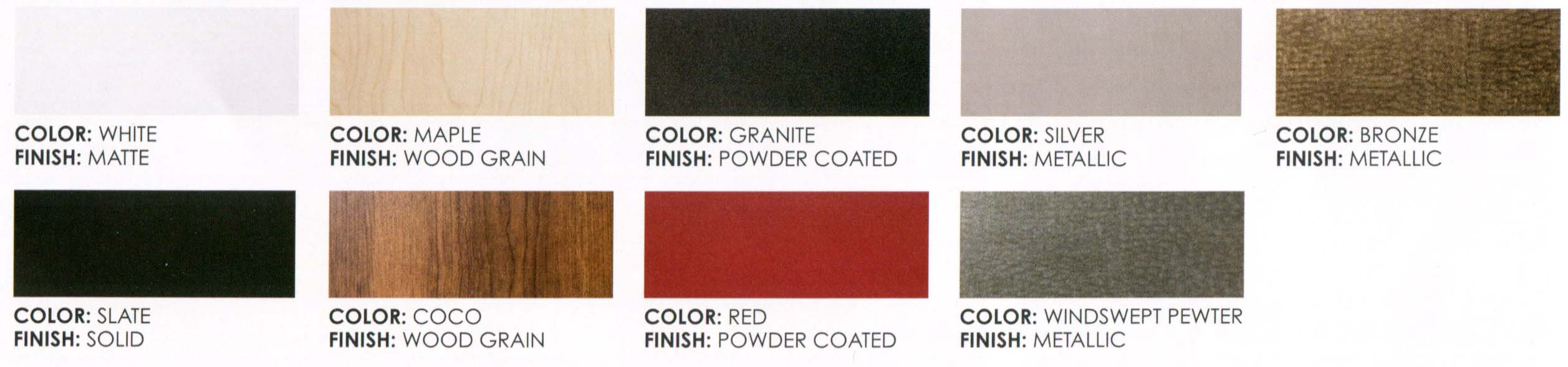 GARAGE CABINET COLORS and FINISHES